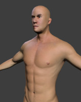 Low Poly Male Body