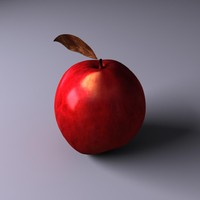 3d model of apple adam eve