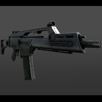 realistic assault rifle 3d model