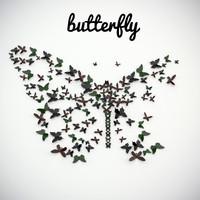 panel butterflies 3d model