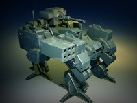 3d model of robot war