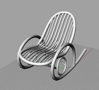 3ds max classic rocking chair