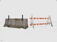 3d model 2 roadblocks
