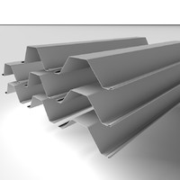 3d model steel piles metal
