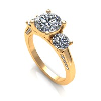 Three Stone Diamond Ring R26