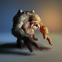 3d troll monster model