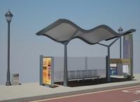 c4d bus stop