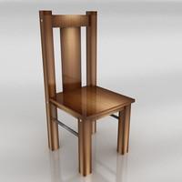 3dsmax wood chair