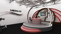 3ds max scene tv studio