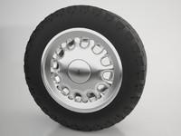 3d max wheel tire