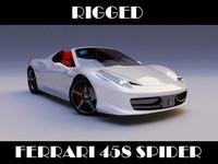 ferrari 458 spider 3d model