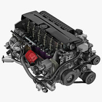 bmw car engine cut 3d 3ds