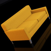 3d condo studio sofa model