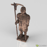 3d antique bronze sculpture model