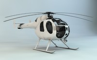MD-500 Model 369D NOTAR Helicopter