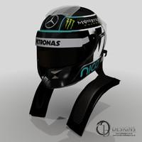 3d nico rosbergs 2014 helmet model
