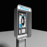 payphone phone 3d model