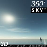 3d sky clouds model