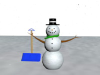 snowman decoration 3d max