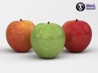 s realistic apples 3d 3ds