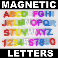 3d magnetic alphabet model