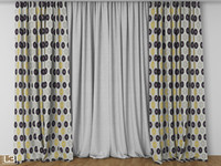 3d model hall curtain