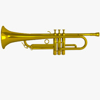 trumpet 3d model