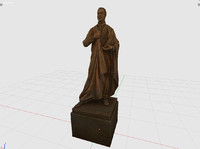 3d 3ds judge bronze statue