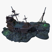 3d model of shipwreck ship wreck