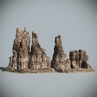 desert rock 3d max