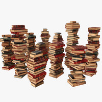 Old Vintage Books Pile heap mound stack