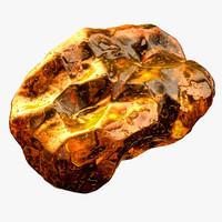 3d modeled amber model
