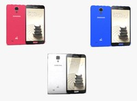 3d samsung galaxy j colors model