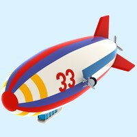 Cartoon Airship