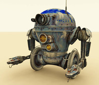 3d model work robot distressed