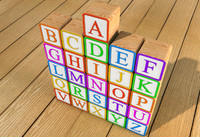 3d model children alphabet blocks