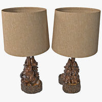 bear tree accent lamp max