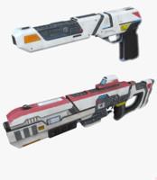 3d model pistole rifle