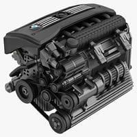 bmw car engine 2 c4d