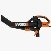 electric blower worx trivac 3d model