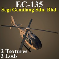 3d model of eurocopter pvt