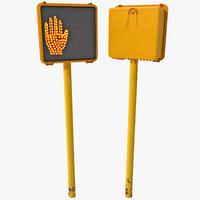 pedestrian signal 3d max