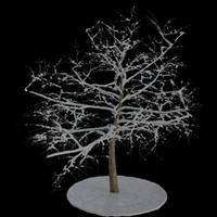 3ds max tree 7 branches snow