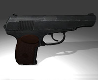 3d model makarov pistol 9x18mm