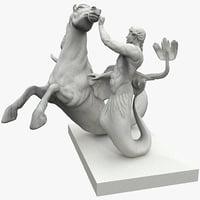 Seahorse and Triton Statues 2