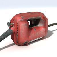 3d concrete vibrator motor