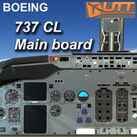3d boeing 737 classic main model