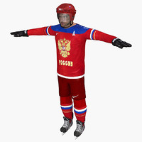 3d model ovechkin sochi 2014 hockey