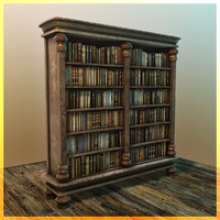 3d book shelf bookshelf model