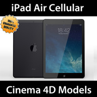 apple ipad air cellular 3d c4d